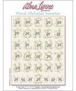 Floral Alphabet Sampler cross stitch chart Alma Lynne Originals - $7.00