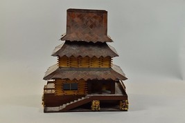 Vintage BLACK FOREST handmade unique mountain cabin chalet ice ski decor... - $128.70