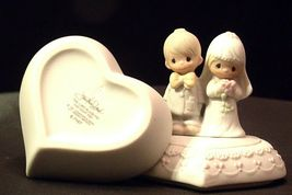 1981 Precious Moments E-7167 Jewelry Box 2 Pieces AA-191820 Vintage Collectibl image 5