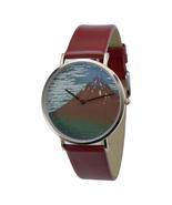 nameless Ukiyo-e Watch (red-fuji) Red Band Free shipping worldwide - $59.00