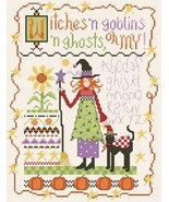 Witches And Goblins Oh My cross stitch chart Alma Lynne Originals - $7.00