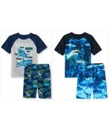 NWT The Childrens Place Sharks Boys Short Sleeve Pajamas Set 5-6 7-8 10-... - $12.99