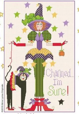 Charmed I'm Sure cross stitch chart Alma Lynne Originals