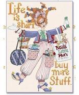 Matilda Mallstomper cross stitch chart Alma Lynne Originals - $6.30