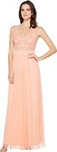 Adrianna Papell Women's Sleeveless Bead Gown with Shear Waistband - $118.79+