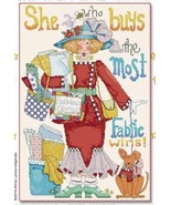 Clementine Clothcollector cross stitch chart Alma Lynne Originals - $6.30