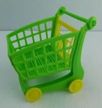 Shopkins Shopping Cart Sprint Game Shopping Cart Replacement Part Green Piece - $5.93