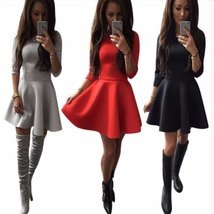 Womens Quarter Sleeve Pleated Skater Skirt - $22.42