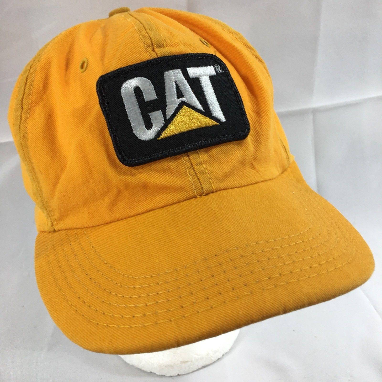 8d1295d6026e7 S l1600. S l1600. Previous. VTG CAT Caterpillar YELLOW Flat Bill Trucker Hat  Urban Snapback Cap with Patch