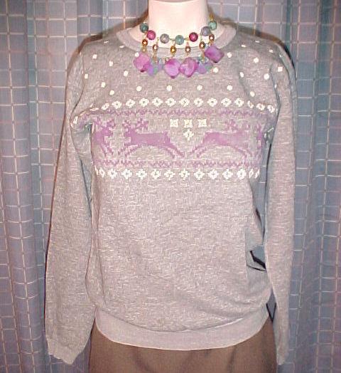 Pullover gray reindeer1
