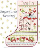 Sugarplums Dancing Stocking cross stitch chart Alma Lynne Originals - $9.00