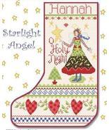 Starlight Angel Stocking cross stitch chart Alma Lynne Originals - $9.00