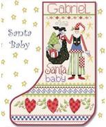 Santa Baby Stocking cross stitch chart Alma Lynne Originals - $9.00