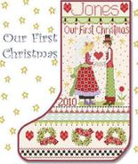 Our First Christmas Stocking cross stitch chart Alma Lynne Originals - $9.00