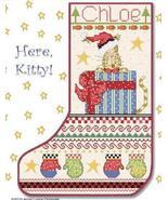 Here Kitty Christmas Stocking cross stitch chart Alma Lynne Originals - $9.00