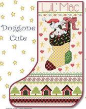 Doggone Cute Christmas Stocking cross stitch chart Alma Lynne Originals - $9.00