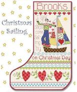 Christmas Sailing Christmas Stocking cross stitch chart Alma Lynne Origi... - $9.00
