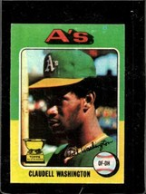 1975 Topps #647 Claudell Washington Vgex Rc Rookie Athletics *X01085 - $6.93