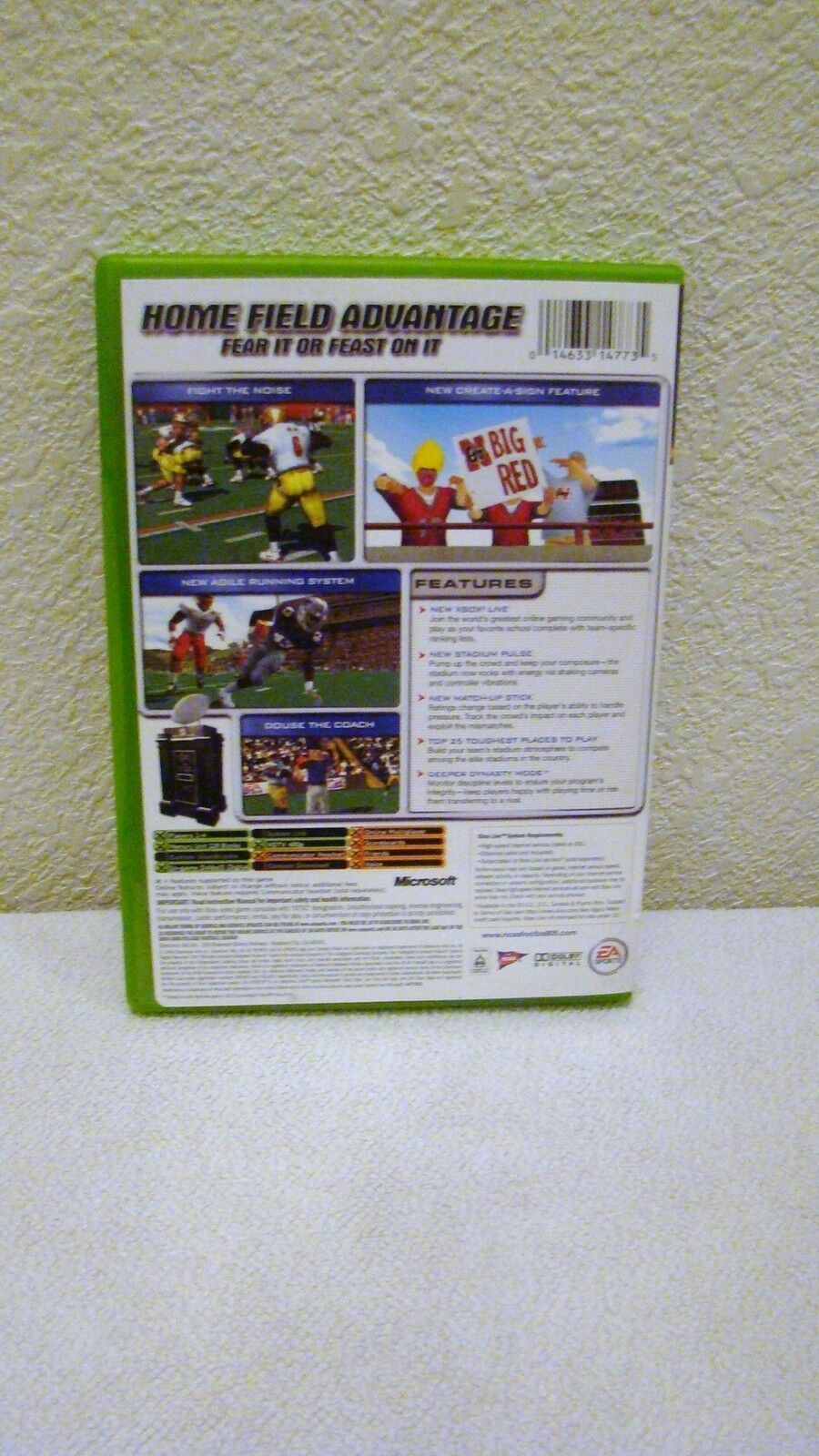 2004 XBox EA Sports NCAA Football 2005 Rated E for Everyone Video Game