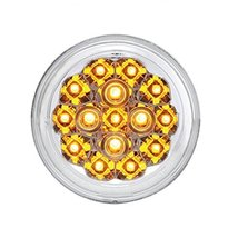 "15 LED 2 3/8"" Harley Turn Signal Light - Amber LED/Clear Lens - $31.04"