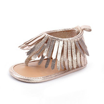 NEW Baby Girl Gold Fringe Sandals Crib Shoes 1 2 3 - $5.99