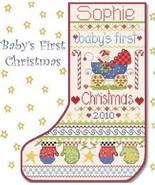 Baby's First Christmas Stocking cross stitch chart Alma Lynne Originals - $9.00