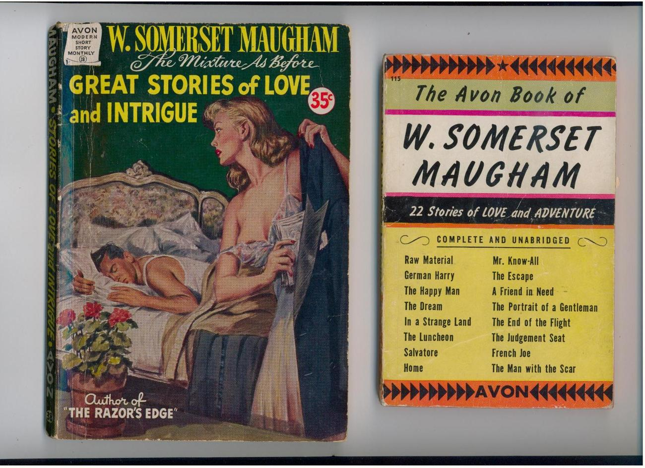 2 W.S. Maugham story collections - - 1940s - scarce digest