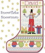Snowflake Snowman Christmas Stocking cross stitch chart Alma Lynne Origi... - $9.00