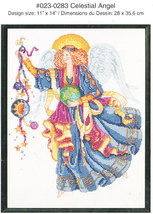 *Just-A-Chart Cross Stitch CELESTIAL ANGEL Janlynn 2003 - $4.00