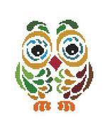 Art Deco Owl 2 cross stitch chart Cross Stitch Wonders - $5.00