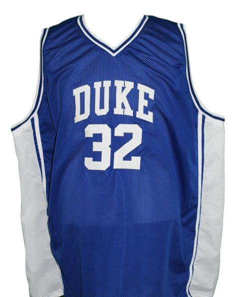 Christian Laettner #32 Custom College Basketball Jersey New Sewn Blue Any Size
