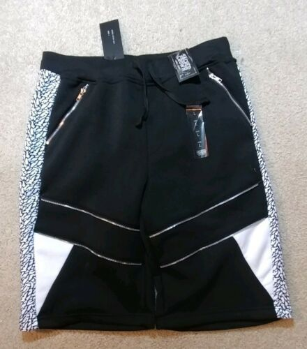 Primary image for Sacred Crown Men's Jogger Shorts size Large as pictured Black