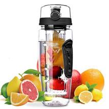 32oz Shatter-Resistant Sport Fruit Infuser Water Bottle Toxin-Free W/ Brush - €20,67 EUR