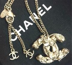 Auth Chanel Bañado en Plata cc Logo Vintage Charm Cadena Colgante Collar CN0231 - $701.23