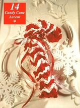 X919 Crochet PATTERN ONLY Candy-Cane Christmas Ornaments - $9.50