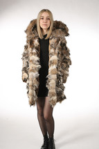 Lynx Fur Coat Hooded Sectional image 1