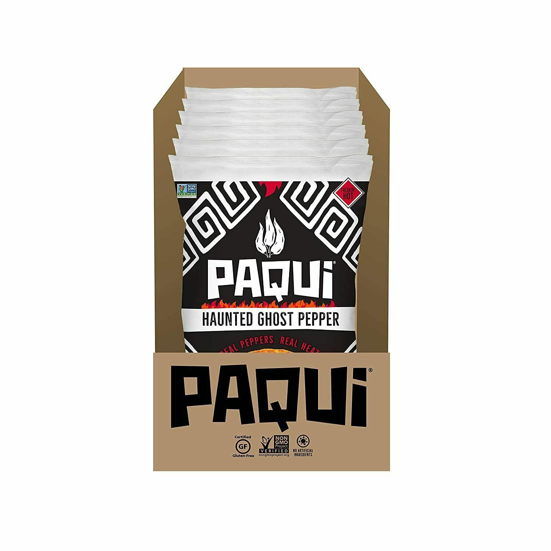 Paqui Haunted Ghost Pepper Bag Hot Carolina Reaper Chip Challenge 2 Oz (6 Packs)