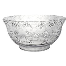 Party Essentials N124563 Hard Plastic 12-Quart Embossed Punch Bowl, Clear - $28.62