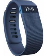 Genuine Fitbit Charge Sleep Monitor Yoga Walk Run Special Edition Blue L... - $49.49