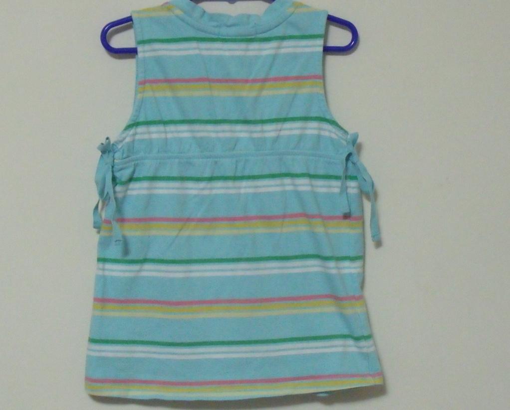 Girls Gap Aqua Stripe Sleeveless Top Size 4 to 5