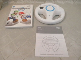Nintendo Mario Kart Wii Video Game 2008 Complete w/ Wheel - $21.76