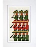 Days of Christmas Eleventh Day holiday cross stitch card chart Linda Jea... - $5.40