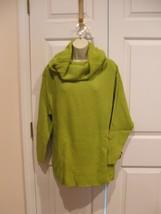 new in pkg newport news kiwi green cowl neck tunic sweater size small - $14.10