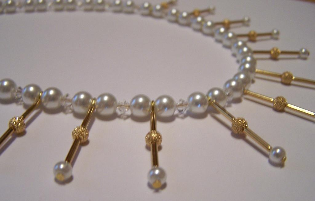 Pearl and Gold Handmade Necklace