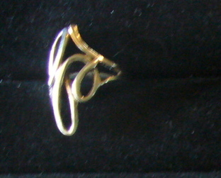 Cast Sterling Silver Large Loops Ring Size 5.75