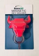 GamaGo  RED Bull Ring Magnetic Key Holder Keyring - $9.89