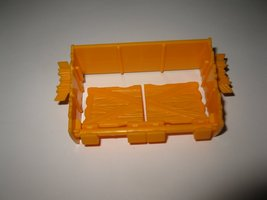 1989 Aurora Devil's Ditch Slot Car Playset piece: Yellow Spinning Road Barrier  - $5.00