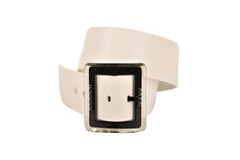 Armani Jeans Womens T5140 Belt Leather T1 White Size 87 CM - $107.77