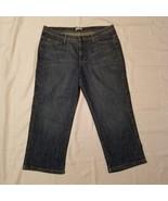 Women's Lee Denim Capri Blue Jeans ~ Sz 16 Medium ~ Lower on The Waist - $16.82