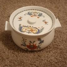Limoges Porcelaine De Paris  BLEU Demitasse bowl and lid  - $45.17